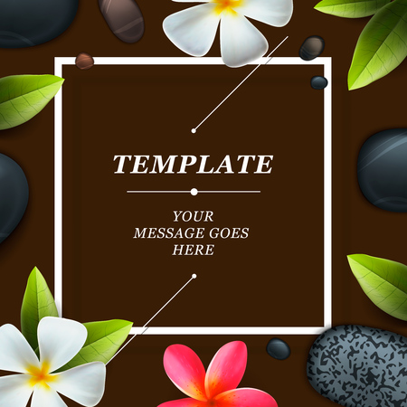 health spa: Health and beauty frame template concept for spa salon Illustration