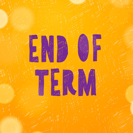 end of summer: Schools out, end of term, vector illustration.