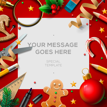 school holidays christmas break poster background for winter end of term vector illustration - When Does Christmas Break End