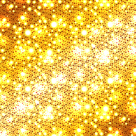 blinking: Christmas golden background, holiday abstract glitter background with blinking stars, vector illustration.