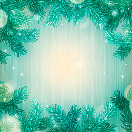 rime frost: Winter abstract background. Christmas background with snowflakes, vector illustration.