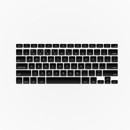 computer keyboard: Computer keyboard, isolated on white background, vector illustration.