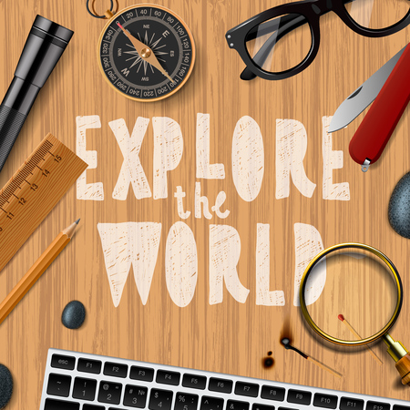 jorney: Explore the wold, travel and tourism background.