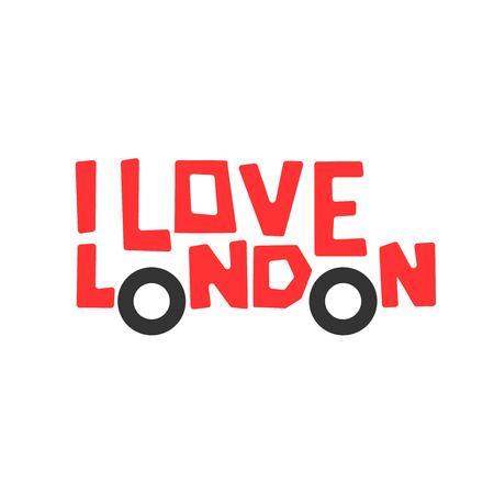 t shirt print: I love London, t-shirt design, logo graphic, vector illustration.