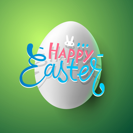 easter and egg: Very Happy Easter, greeting card with easter egg, vector illustration.
