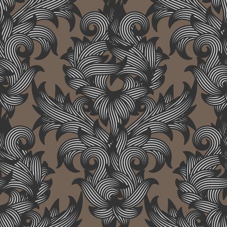 Vector pattern: Dàn damask hình hoa, sử dụng cho bất kỳ lời mời đám cưới hay sang trọng cổ điển nền trừu tượng, vector minh họa. Hình minh hoạ