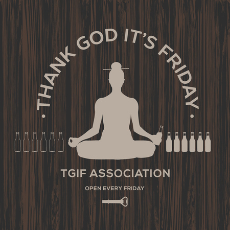 hi end: Happy Friday, thank God its Friday, vector illustration.