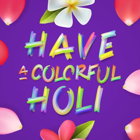 de colores: Tener un colorido Holi, cartel de la fiesta del color indio, puede ser invitación de la fiesta uso, ilustración.