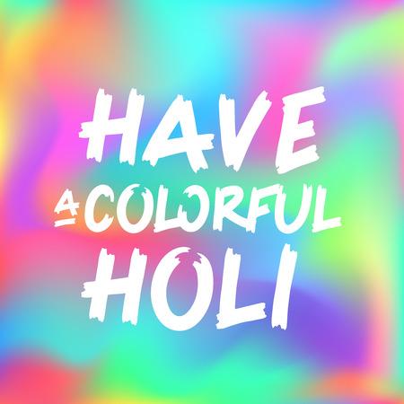 Konzept der indischen Farbe Festival glücklich Holi, kann die Verwendung Partei Einladung, Vektor-Illustration sein.