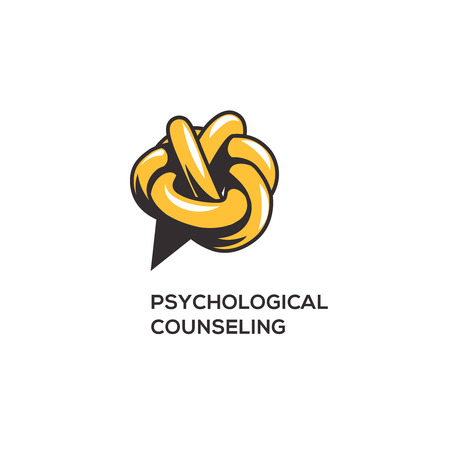 speech icon: Counseling psychology,  concept for design, illustration