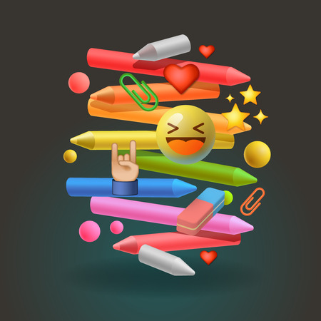 successful student: Social media community global education, vector illustration. Illustration