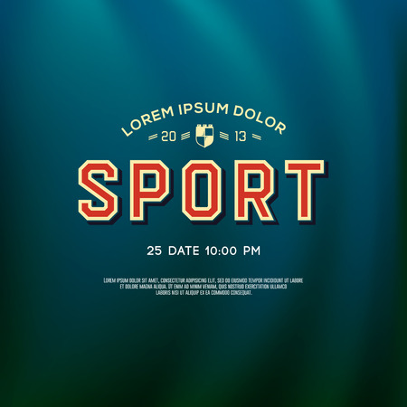 Design-Sport-Logo für Schule und Universität Team, Vektor-Illustration.