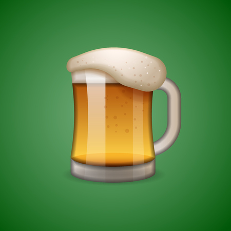 Mug of beer icon, emoticon, emoji Standard-Bild