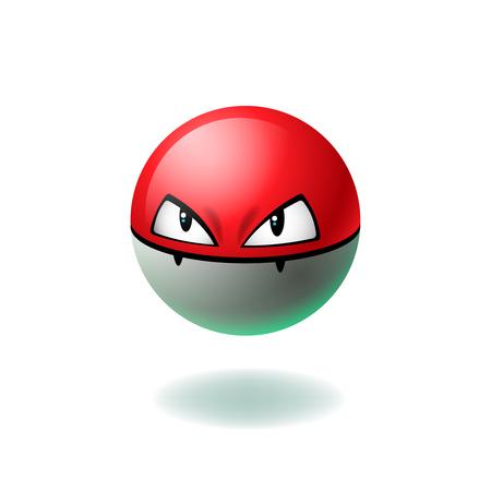 Angry Gesicht emoji, Cartoon Charakter, isoliert Hintergrund, Vektor-Illustration. Illustration