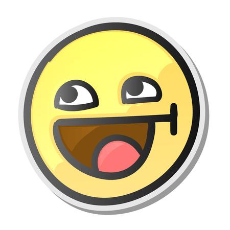 Glückliches Gesicht des netten Emoticon, Vektorillustration. Standard-Bild - 77184733