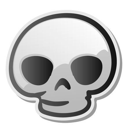 Skull emoji face, emoticon, sticker