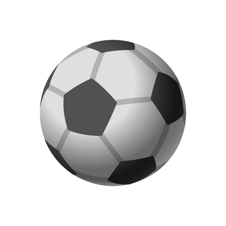 Football icon. soccer ball, isolated on white background. vector illustration.