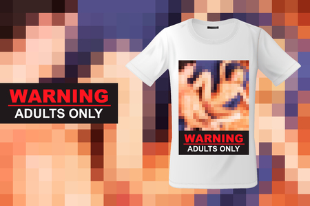 Adults only, t-shirt design, modern print use for sweatshirts, souvenirs and other uses, vector illustration. 写真素材