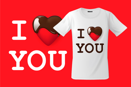 I love you, t-shirt design, modern print use for sweatshirts, souvenirs and other uses, vector illustration.