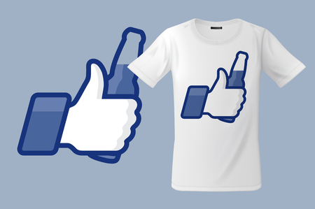 Modern t-shirt design with Thumbs Up icon with beer bottle, use for sweatshirts and souvenirs, cases for mobile phones, vector illustration