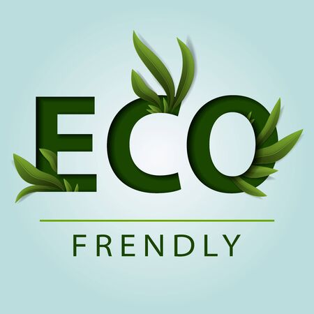 Eco Friendly. Ecology concept. Green earth, Green leaf, vector Illustration.