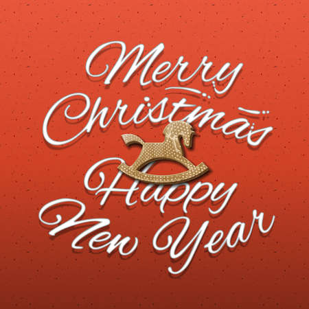 Merry Christmas and Happy New Year web banne, vector illustration