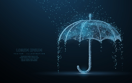 Vector umbrella rain protection.