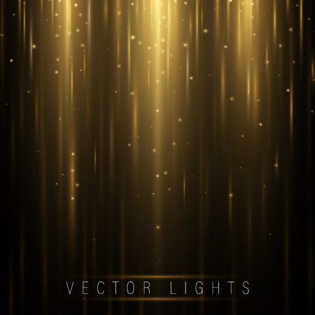 Glowing magic light effect and long trails fire motion, vector art and illustration.Abstract glow light lines, Motion light of high speed car Illustration