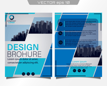 Poster flyer pamphlet brochure cover design.Can be used for presentation, flyer and leaflet, brochure, corporate report, marketing, advertising, annual report, banne.City skyline. Cover book.