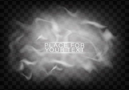 Fog or smoke isolated transparent special effect.Smoke or cloud effect on transparent background. Realistic fog.Vector illustration.