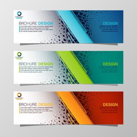 Volantini 3 volte Illustrazione Template.Vector Può essere utilizzato per presentazioni, flyer e depliant, brochure, report aziendali, marketing, pubblicità, report annuali, banne.