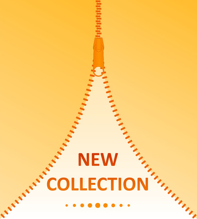 New Collection.Vector icon closed and open zipper, fastener.