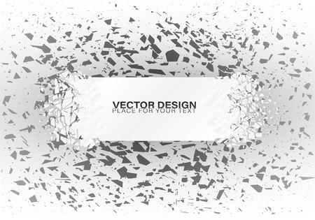 Estructura cristalina congelada. Marco de cristales fríos. Hermoso diseño geométrico para presentaciones de negocios Banners geométricos.