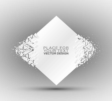 Estructura cristalina congelada. Marco de cristales fríos. Hermoso diseño geométrico para presentaciones de negocios Banners geométricos. Ilustración de vector