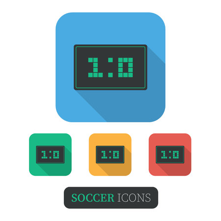 Scoreboard for Sport Games.Flat style with long shadows.  イラスト・ベクター素材