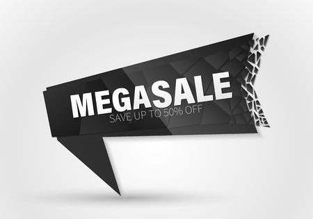 Sale banner template design, Big sale special offer. end of season special offer banner.Vector Banner with explosion effect. Vettoriali