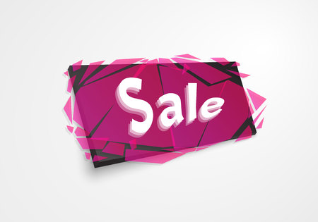 Sale banner template design, Big sale special offer.Banner with explosion effect. Off discount sticker