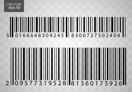 A modern simple flat barcode. Marketing, the concept of the Internet. Fashionable vector sign of a market trademark for website design, mobile application. 일러스트