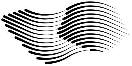 Ensemble isolé de lignes de vitesse. Rayons de soleil ou étoiles éclatent éléments vectoriels noirs isolés.Ensemble de différentes lignes de vitesse vecteur noir simple.