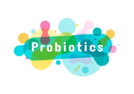 Probiotics bacteria logo. Simple flat style trend modern logotype graphic design isolated on white background. Prebiotic, Lactobacillus Vector Icon Design.
