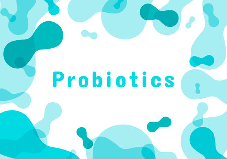 Probiotics bacteria logo. Simple flat style trend modern logotype graphic design isolated on white background. Prebiotic, Lactobacillus Vector Icon Design.