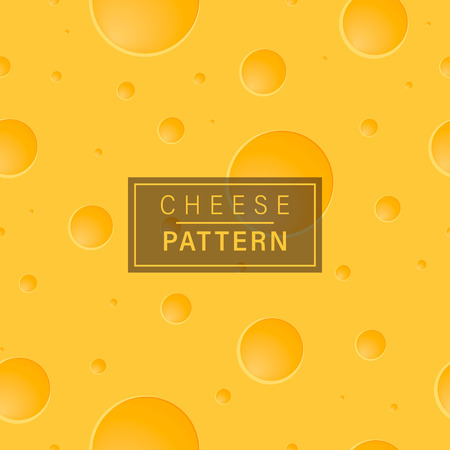 Cheese background pattern. Bright yellow seamless pattern. Иллюстрация