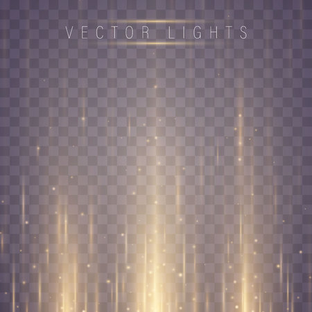 Glowing magic light effect and long trails fire motion, vector art and illustration.Abstract glow light lines, Motion light of high speed car Stock Illustratie