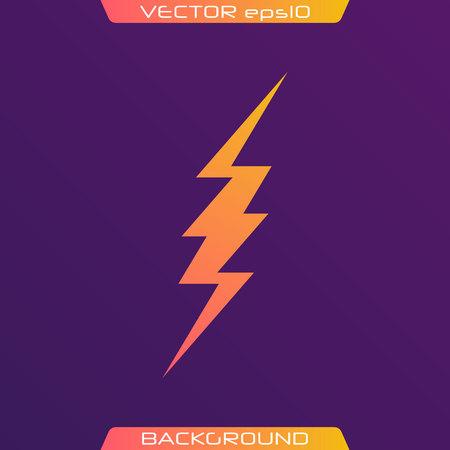 Lightning Bolt Minimal Simple flat symbol. Vector of Black Thunder Lighting Icons. Vecteurs