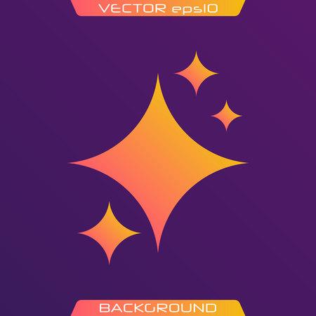 The set of original vector stars sparkle icon. Bright firework, decoration twinkle, shiny flash. Glowing light effect stars and bursts collection. Vector illustration. Illusztráció