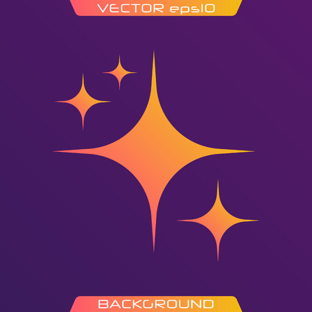 The set of original vector stars sparkle icon. Bright firework, decoration twinkle, shiny flash. Glowing light effect stars and bursts collection. Vector illustration. Иллюстрация
