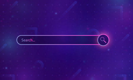 Web search field. Design element of Web site, applications, e-shop. Template isolated. Vector illustration.