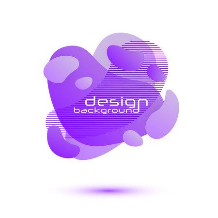 Dynamic Fluid design. Gradient shapes. Fluid shapes composition. Template for the design of a logo, flyer or presentation. Liquid banners. Vector illustration.