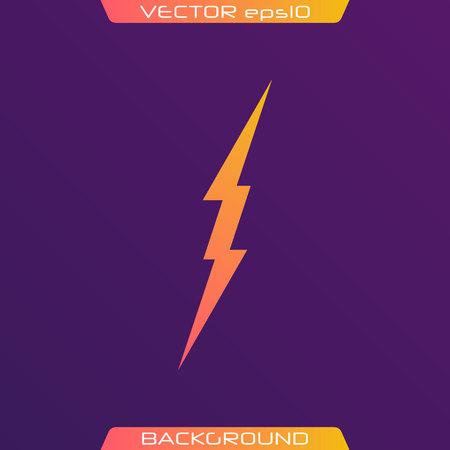 Lightning Bolt Minimal Simple flat symbol. Vector of Black Thunder Lighting Icons. Иллюстрация