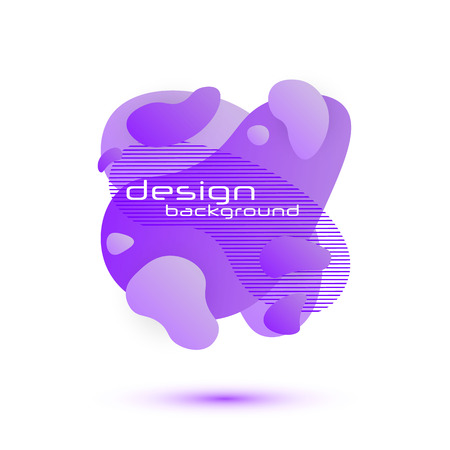 Dynamic Fluid design. Gradient shapes. Fluid shapes composition. Template for the design of a logo, flyer or presentation. Liquid banners. Vector illustration.